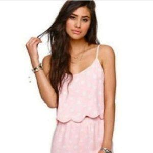 New Pacsun LA Hearts Pink and White Polka Dot Cami